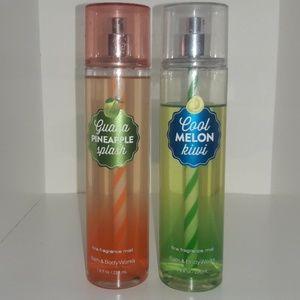 Guava pineapple splash, cool melon kiwi bosy spray
